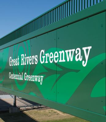 Great Rivers Greenway Centennial Greenway bridge