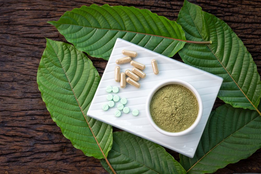 Examples of kratom plant and related consumable products, including pills, capsules and powders