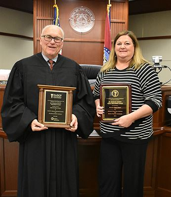 Judge Ohlms and Treatment Court Administrator Julie Seymore