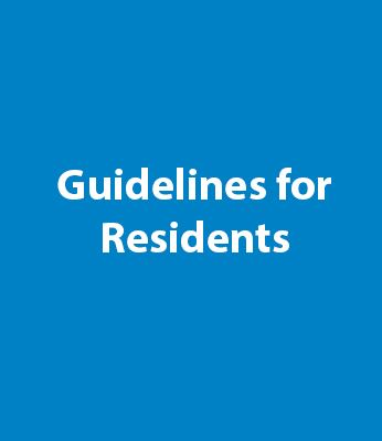 Guidelines For Residents Graphic