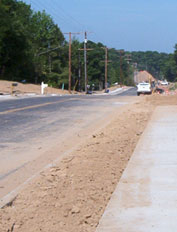 road improvements being completed