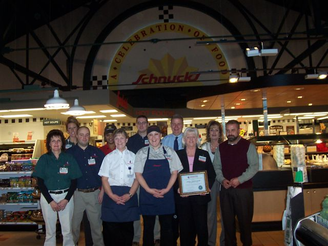 Presenting 24 Carrot Food Safety Excellence Awards to Schnucks staff